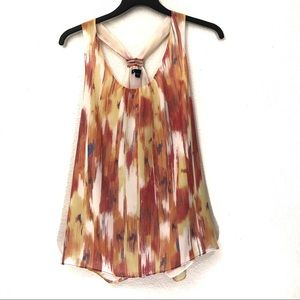 Gap Factory Colorful Chiffon Tank Top